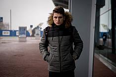 Куртка мужская зимняя черная серая Intruder 'Alaska' в размере S M L XL XXL