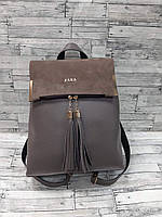 Рюкзак женский Зара с замшевой отделкой