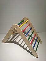 Треугольник Пиклера разноцветный. Детская лесенка. Детский спортивный уголок. 75 см от 6 месяцев
