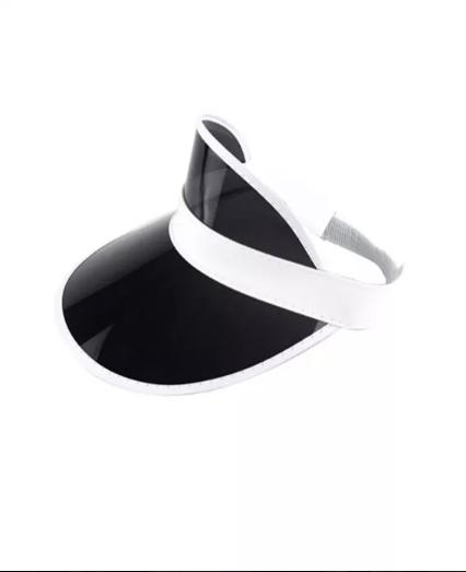 Женский пластиковый солнцезащитный Козырёк City-A на голову от солнца прозрачный Черный