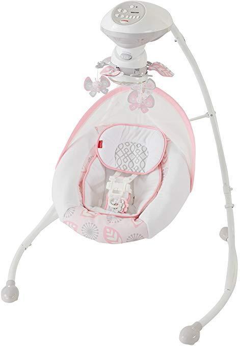 "Fisher-Price Укачивающий центр ""Розовая мечта"" Fisher-Price Deluxe Cradle and Swing Snuga Girl Pink Swin"