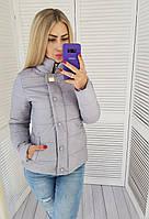 Женская демисезонная куртка, арт. 211/2, светло-серая