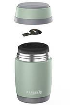 Термос пищевой до 24 часов Ranger Expert Food 0,5 литра  оливковый + ложка