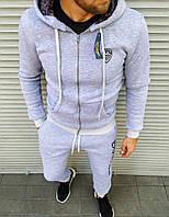 Утепленный мужской спортивный костюм серый Emporio Armani, фото 1