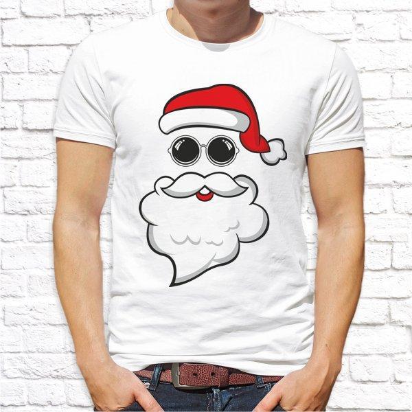 "Мужская футболка с новогодним принтом ""Дед Мороз"" Push IT"