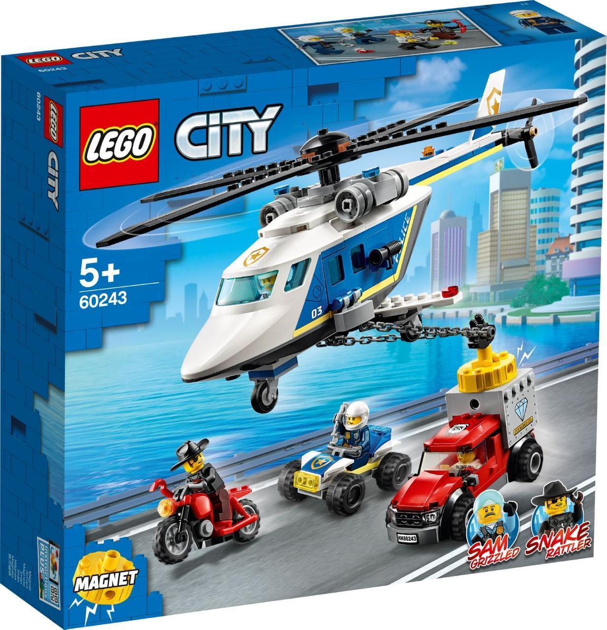 Lego City Погоня на полицейском вертолёте 60243