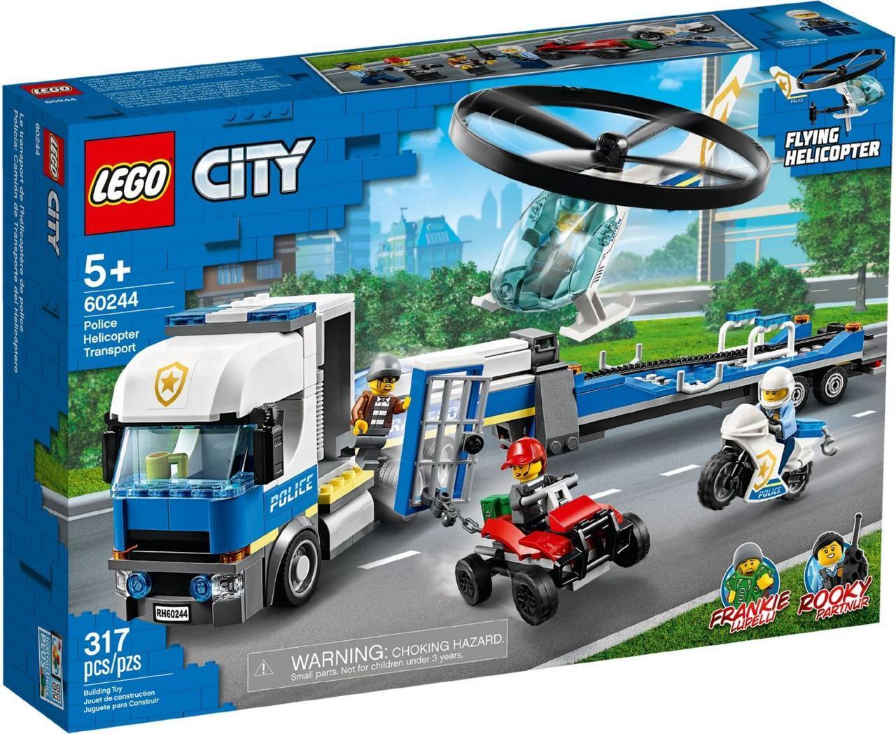Lego City Поліцейський вертолітний транспорт Лего Сіті 60244