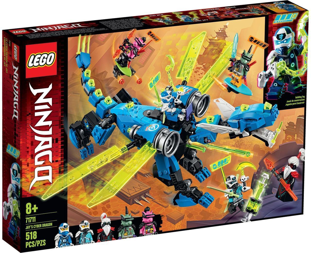 Lego Ninjago Кибердракон Джея Лего ниндзяго 71711