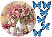 Вафельная картинка Букет