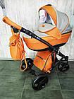 Коляска детская универсальная классическая 2 в 1 POLO синяя серая красная оранжевая бежевая, фото 3