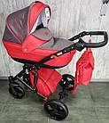 Коляска детская универсальная классическая 2 в 1 POLO синяя серая красная оранжевая бежевая, фото 8