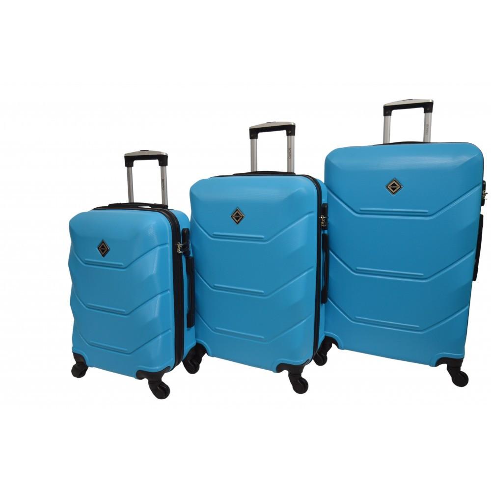 Чемодан Bonro 2019 набор 3 штуки голубой