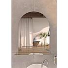 Зеркало Lidz (WHI)-140.07.03 с полкой 700х500, фото 3