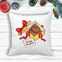 "Подушка с новогодним принтом Подарок ""Merry Cristmas"""