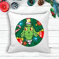 Подушка с новогодним принтом Гринч (The Grinch) в елках