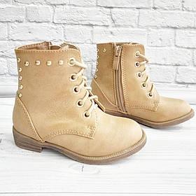 Черевички для дівчат (демо) на шнурівках та замочку.Розмір: 20-25