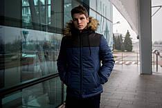 Куртка мужская зимняя черно синяя Intruder 'Alaska' в размере S M L XL XXL