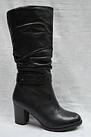 Черные кожаные ( и замшевые ) зимние сапоги Malrostti. Широкое голенище.