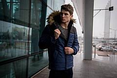 Куртка мужская зимняя черно синяя Intruder 'Alaska' в размере S M L XL XXL, фото 2