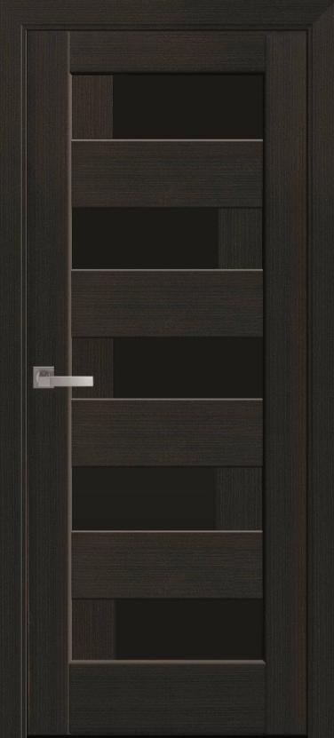 """Дверь межкомнатная остеклённая новый стиль Ностра """"Пиана G,BLK"""" 60,70,80,90 см венге new"""