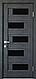 """Дверь межкомнатная остеклённая новый стиль Ностра """"Пиана G,BLK"""" 60,70,80,90 см венге new, фото 7"""