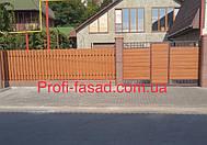 Штакетник Дуб 3Д 105мм шахматная зашивк, ворота- Сайдинг Доска