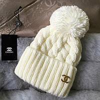 Теплая вязаная женская шапка , фото 1