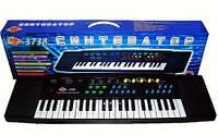 Детский синтезатор с микрофоном 3738