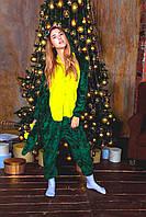 Кигуруми Зелёный дракон пижама женская мужская детская для детей