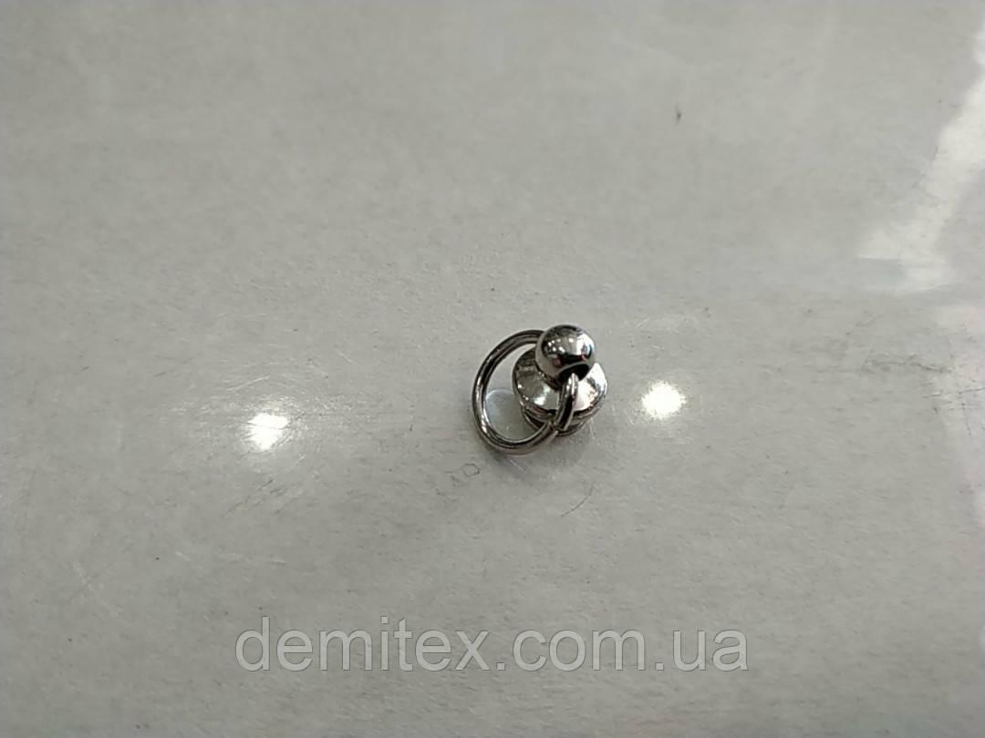 Кобурной винт с кольцом никель 10мм диаметр кольца