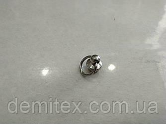 Кобурной гвинт з кільцем нікель 10мм діаметр кільця