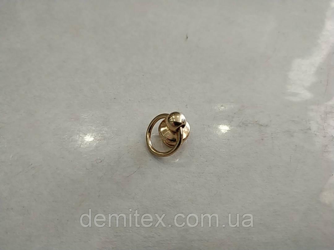 Кобурной винт с кольцом золото 10мм диаметр кольца