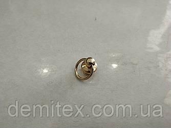 Кобурной гвинт з кільцем золото 10мм діаметр кільця