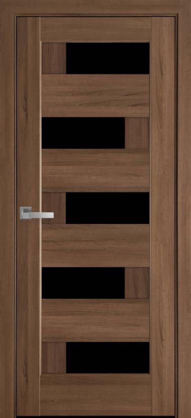 """Дверь межкомнатная остеклённая новый стиль Ностра """"Пиана G,BLK"""" 60,70,80,90 см золотая ольха"""