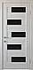 """Двері засклені міжкімнатні новий стиль Ностра """"Піана G,BLK"""" 60,70,80,90 см бук попелястий, фото 2"""