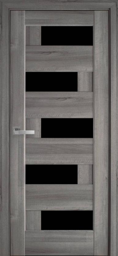 """Двері засклені міжкімнатні новий стиль Ностра """"Піана G,BLK"""" 60,70,80,90 см бук попелястий"""