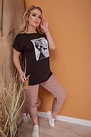 Женские футболки с принтами больших размеров