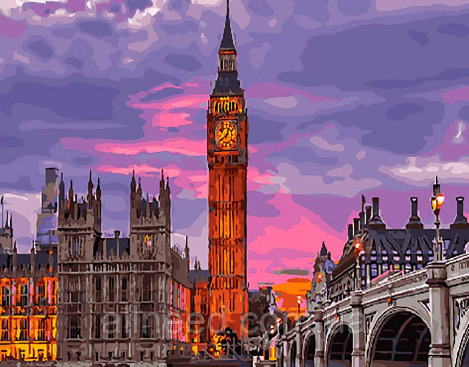 """Картина по номерам. Brushme """"Лондон на закате"""" GX29764"""