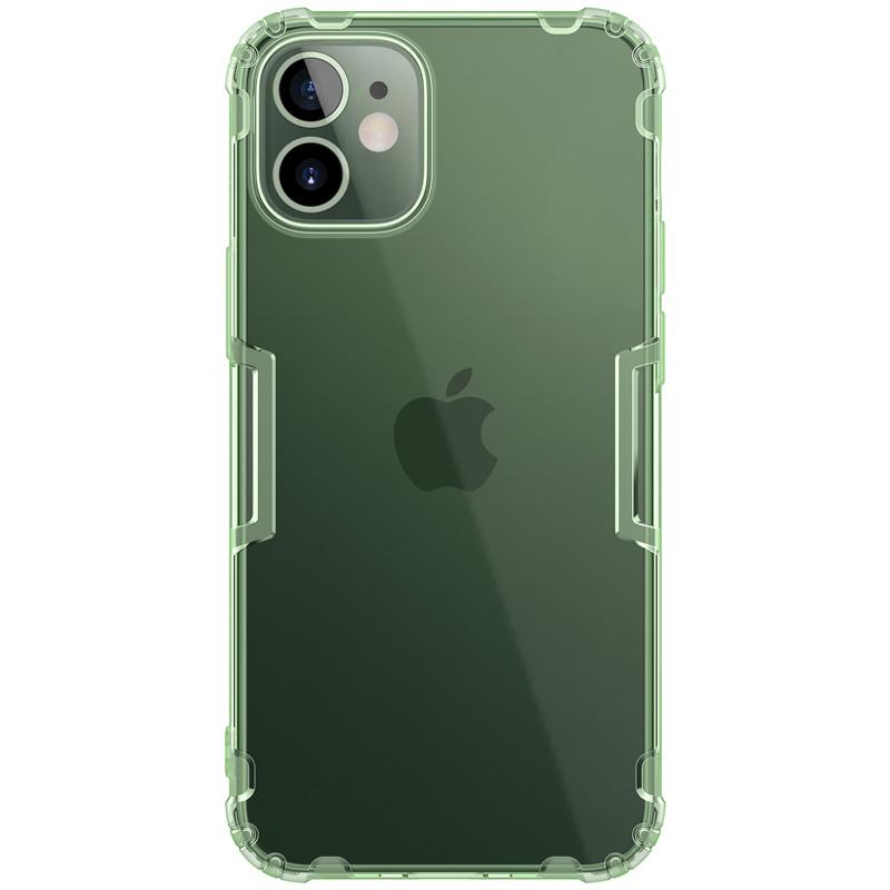 "Nillkin Apple iPhone 12 mini (5.4"") Nature TPU Case Green Силиконовый Прозрачный Чехол с зеленым оттенком"