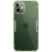 "Nillkin Apple iPhone 12 mini (5.4"") Nature TPU Case Green Силиконовый Прозрачный Чехол с зеленым оттенком, фото 1"