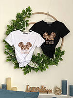 Женские футболки с принтами хлопковые