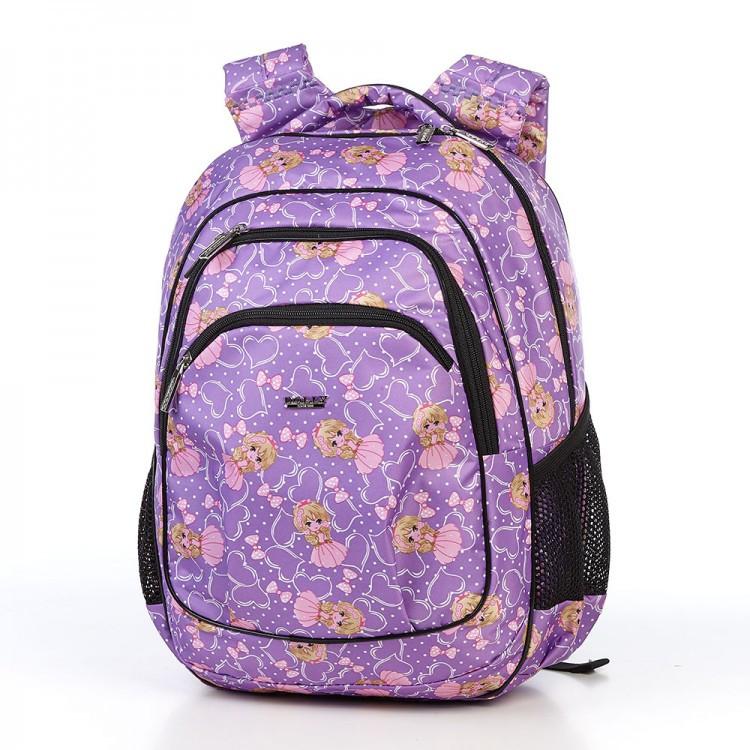 Рюкзак школьный в 2-4 класс ортопедический для девочки легкий Dolly 541 сиреневый