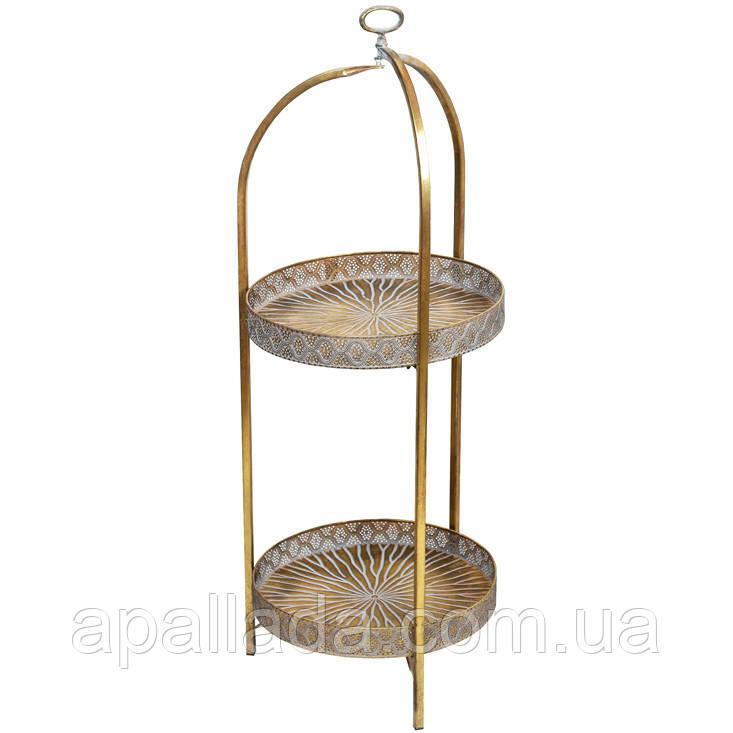 Этажерка металлическая напольная, складная, 104.5см