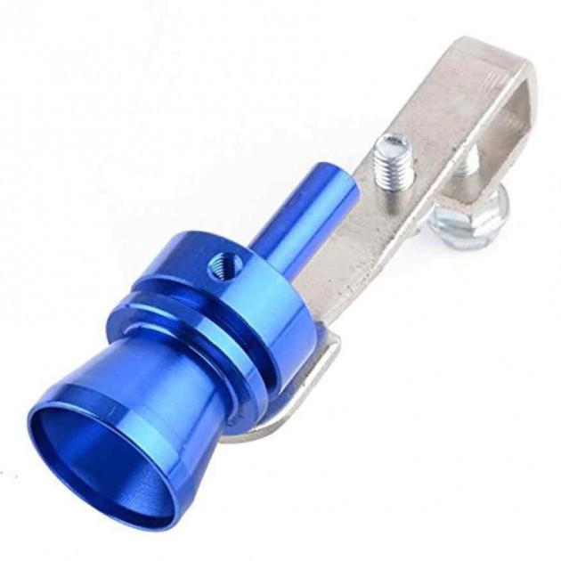 Автомобильный турбо звуковой свисток на выхлопную трубу глушитель AIR TURBO SOUND синий
