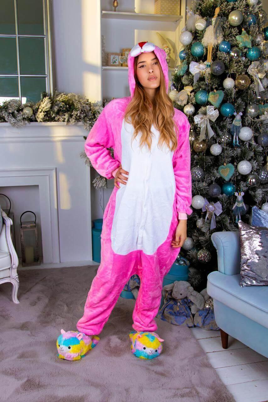 Кигуруми Розовая пантера пижама женская мужская детская для детей