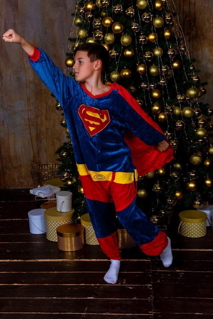 Кигуруми Супермен пижама женская мужская детская для детей