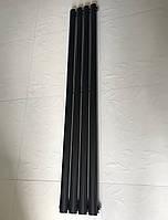 Радіатор дизайнерський вертикальний Rimini II 4/1500 Чорний матовий 1500*236, фото 1