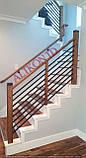 Огородження  сходин , перила металеві та дерев'яні, фото 6