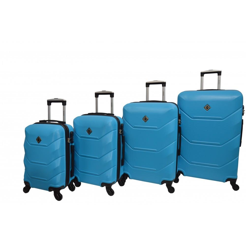 Чемодан Bonro 2019 набор 4 штуки голубой
