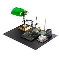 Настольный набор для руководителя мраморный на 9 предметов Элит BST 540200